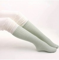 Ženske dvobarvne visoke nogavice