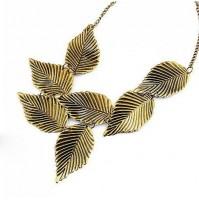 Ženska ogrlica Gold Leaf
